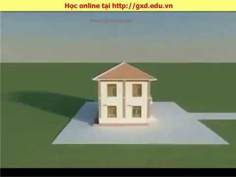 Giới thiệu mô hình 3D công trình để học đọc bản vẽ, đo bóc khối lượng, lập dự toán tại GXD