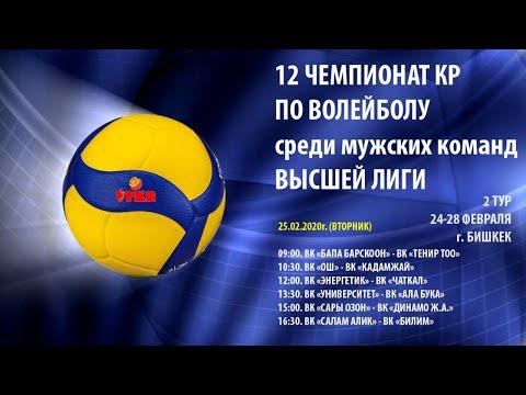 ВК  Чаткал  VS ВК Энергетик.  Чемпионат КР по волейболу. Высшая лига. 2 тур