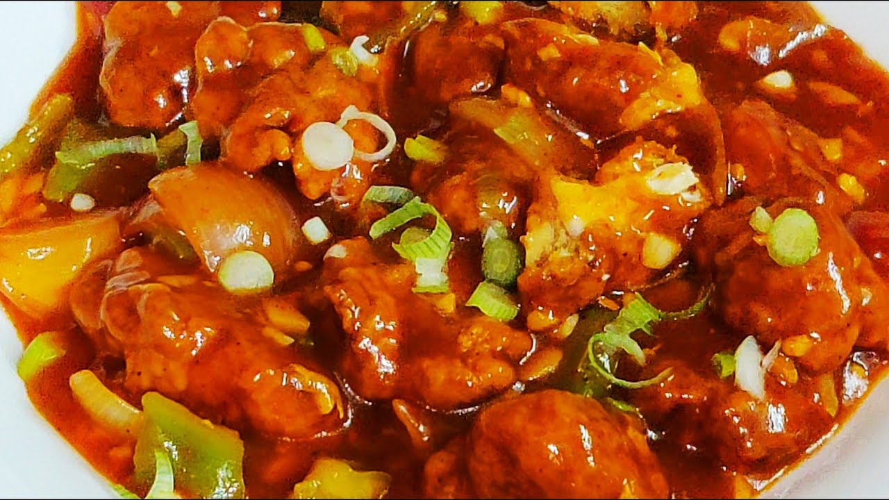 Chicken Chilli Gravy Indo Chinese Chilli Chicken Gravy Recipe Youtube