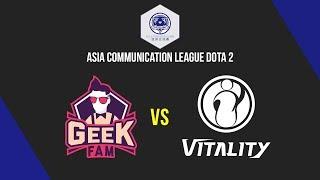 Geek Fam vs IG Vitality - Asia Communication League Dota 2 - Chillcast Justincase
