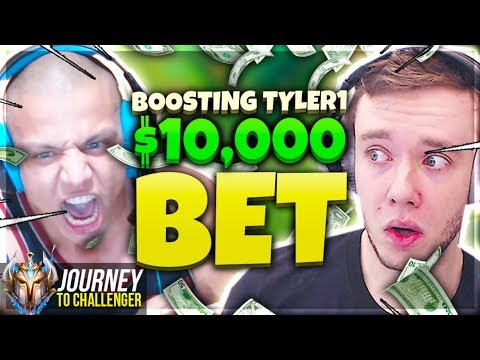 BOOSTING TYLER1 TO WIN THE $10000 - Journey To Challenger  LoL
