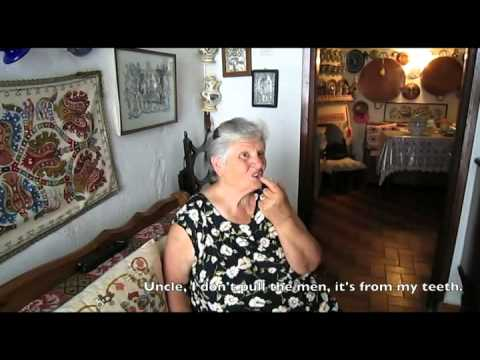 Greek Yiayia Talks About Gap Teeth