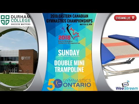Sunday - Double Mini Trampoline - 2018 Eastern Canadian Gymnastics Championships