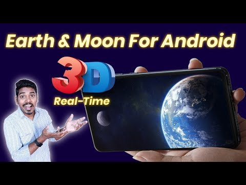 Watch Real Time Earth & Moon For Android, Earth & Moon Live Wallpaper For Android DK Tech Hindi