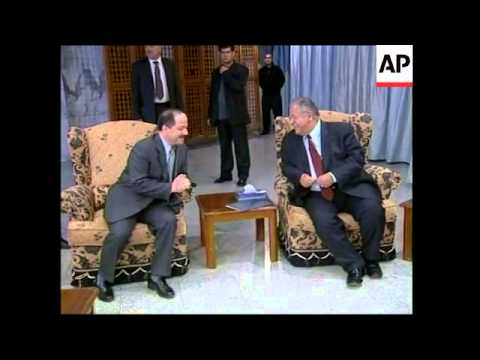 Kurdish faction leaders Barzani and Talabani meet