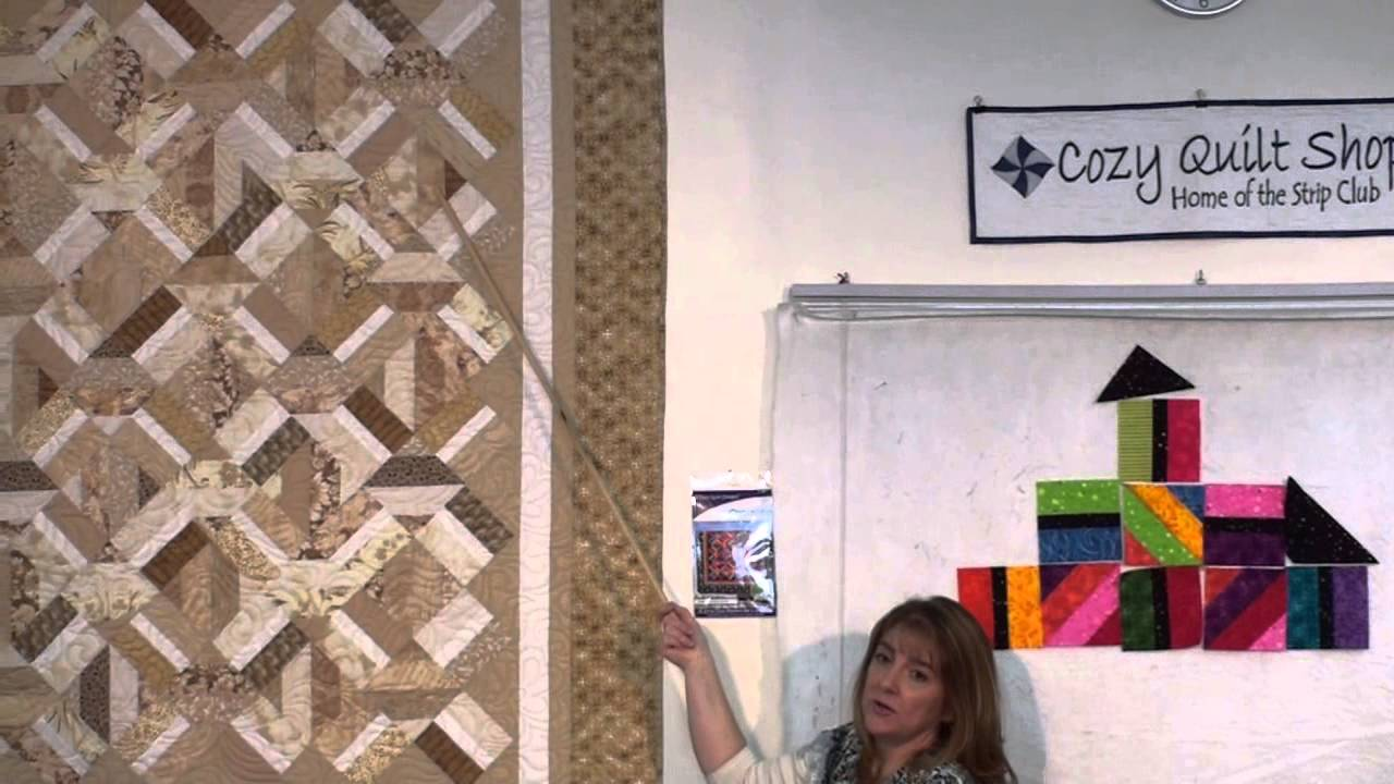 Shortline - Strip Pattern by Cozy Quilt Designs - YouTube : cozy quilts youtube - Adamdwight.com