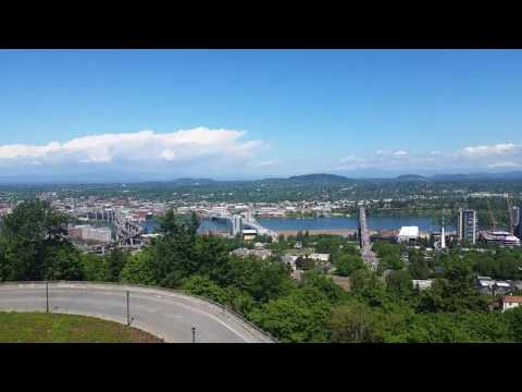 Amazing Views of Portland from the Oregon Health and Science University Hospital