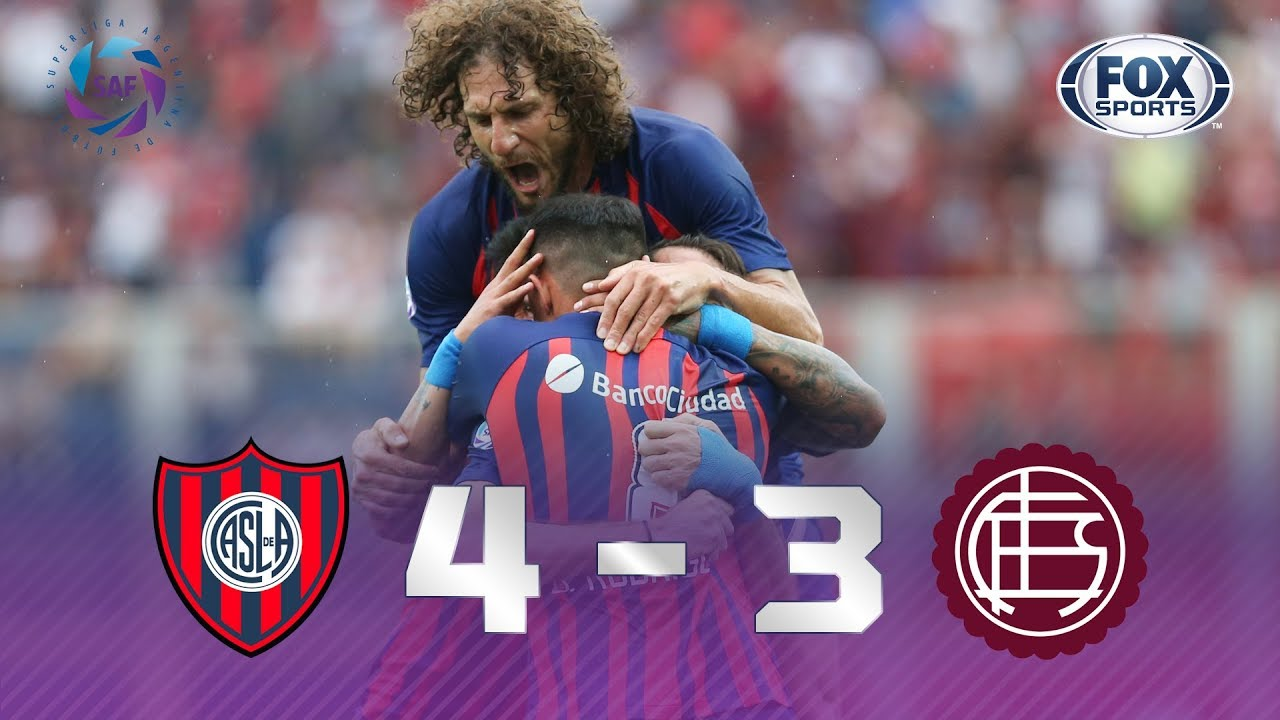 San Lorenzo - Lanús [4-3]   GOLES   Superliga Argentina Fecha 23   FOX Sports