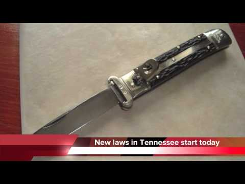 New knife, meth and electric chair laws in Tennessee