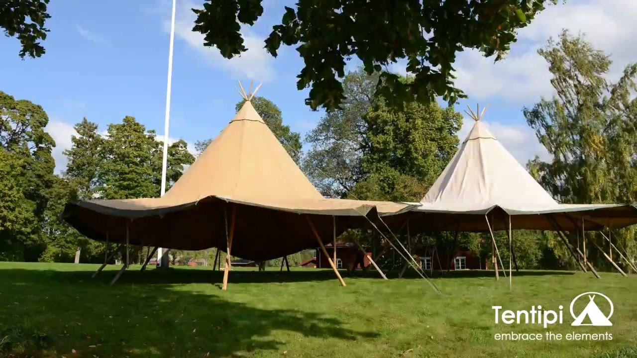 Tentipi Stratus 72. Linking two tents. - YouTube