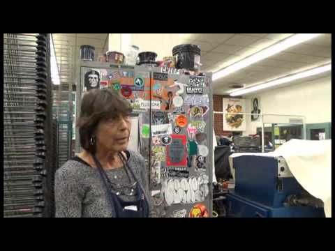 Pasadena CIty COllege Screen Printing Graphic Department TOUR