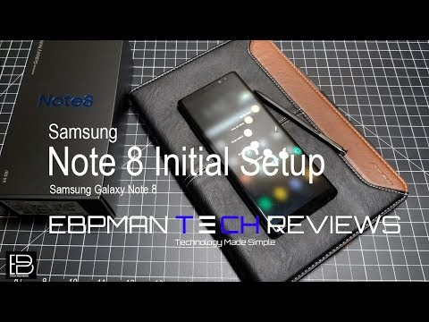 Samsung Galaxy Note 8 Initial Setup