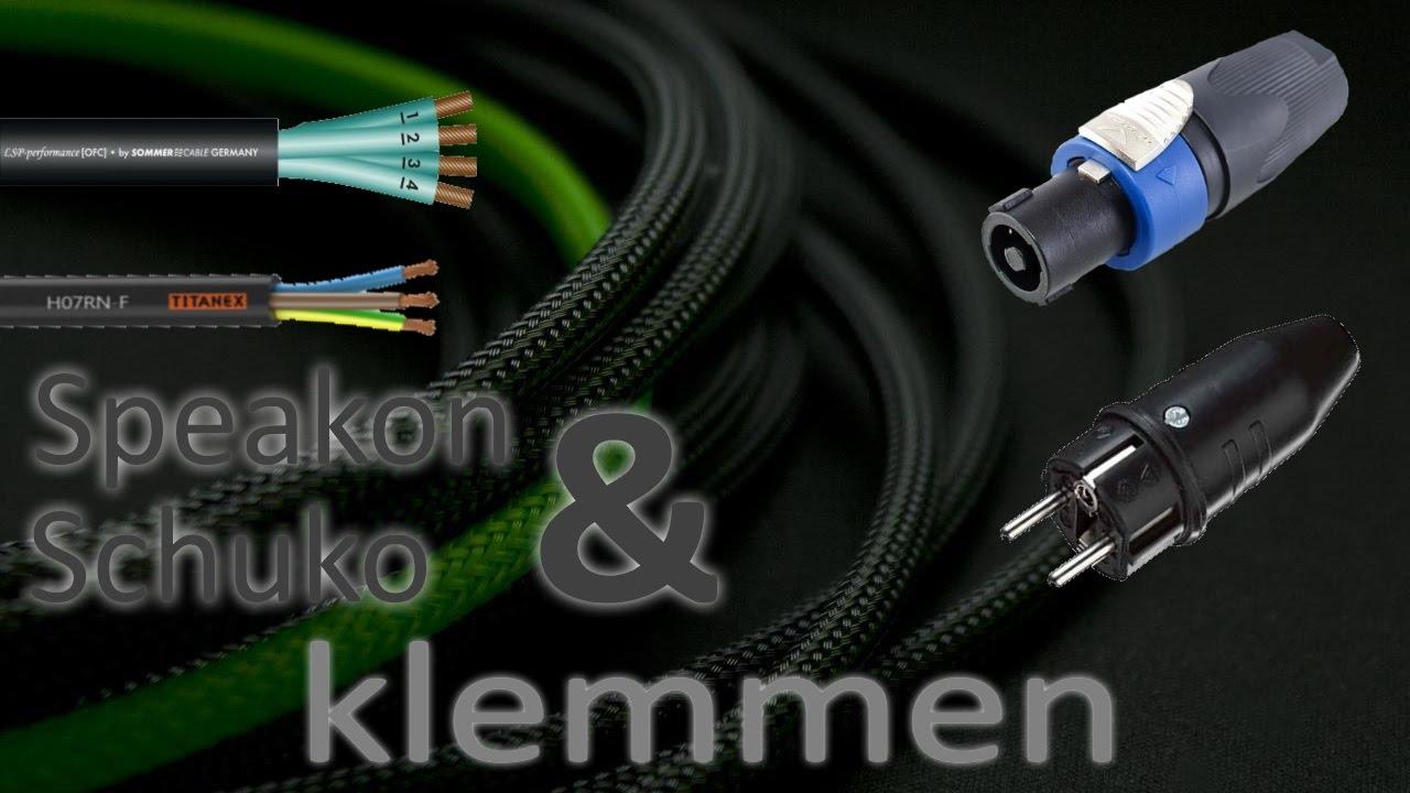 WORKSHOP Schuko Speakon Kabel klemmen (HD) - YouTube