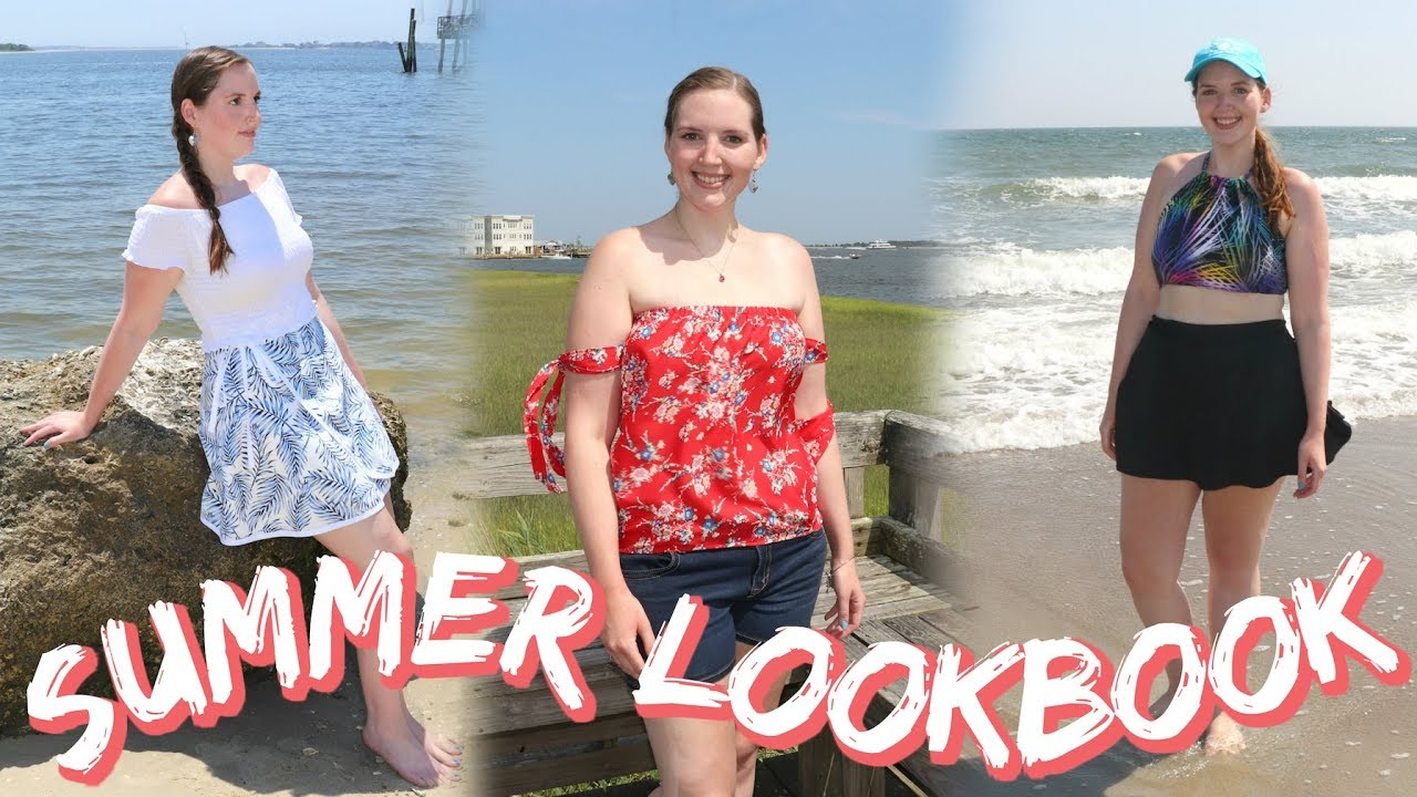 [VIDEO] - Summer Lookbook ft. My Handmade Clothing   What I Wore on my Coastal Vacation 2019 7