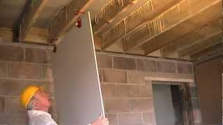 Repeat youtube video How to Fit Plasterboard to Ceilings. The Easy Way To Hang and Attach Drywall / Ceiling Boards