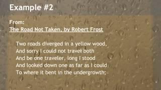 Examples of End Rhyme in Poetry