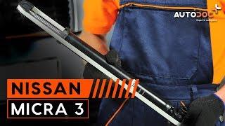 Hogyan cseréljünk Lengéscsillapító szett NISSAN MICRA III (K12) - online ingyenes videó