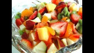 Простой фруктовый салат.