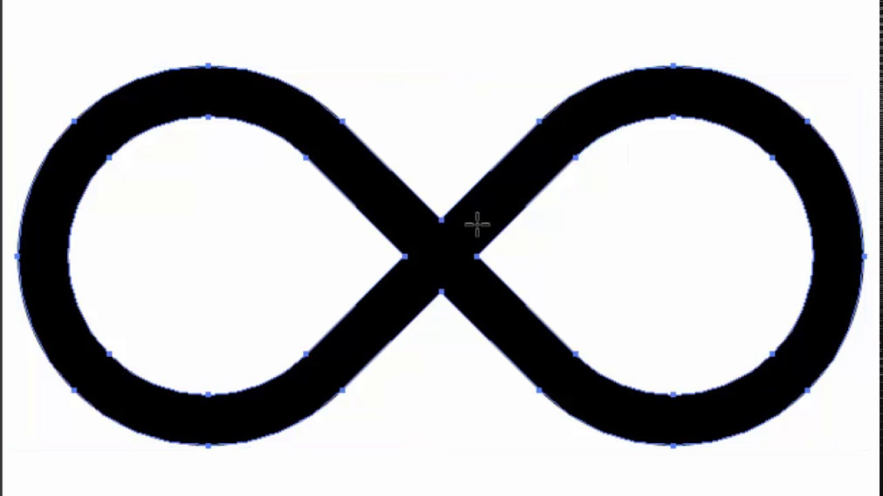 Infinity Sign Adobe Illustrator Cs6 Tutorial Super Quick And Easy