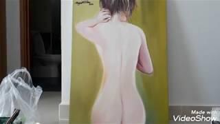 Vẽ tranh Thiếu nữ khỏa thân /Tranh tả thực vẻ đẹp cơ thể phụ nữ /Nghệ Thuật và cuộc sống quanh ta
