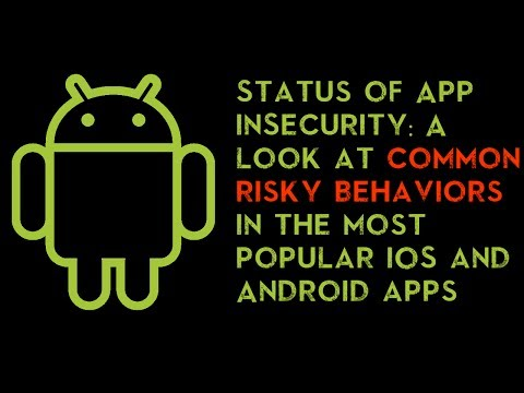 Status of App (in)Security: A look at common risky behaviors in the top 400 iOS and Android apps