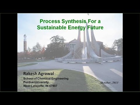Process Synthesis for a Sustainable Energy Future
