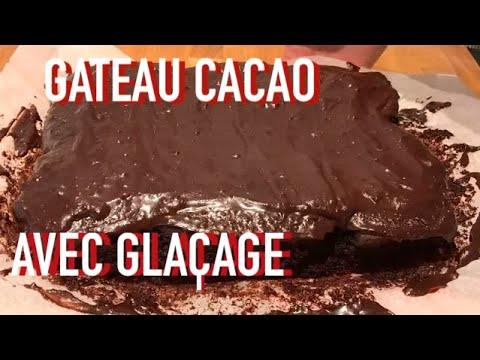 gâteau-moelleux-au-cacao-en-poudre-avec-glaçage-chocolat---recette-#153