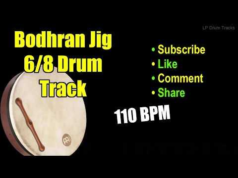 Bodhran Irish Celtic Jig Drum Track | 110 BPM Drum Track- Drum Tracks