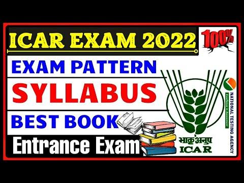Icar Exam 2021 - Icar Exam Pattern   Icar Exam Best Book For Preparation   Icar Exam Syllabus 2021