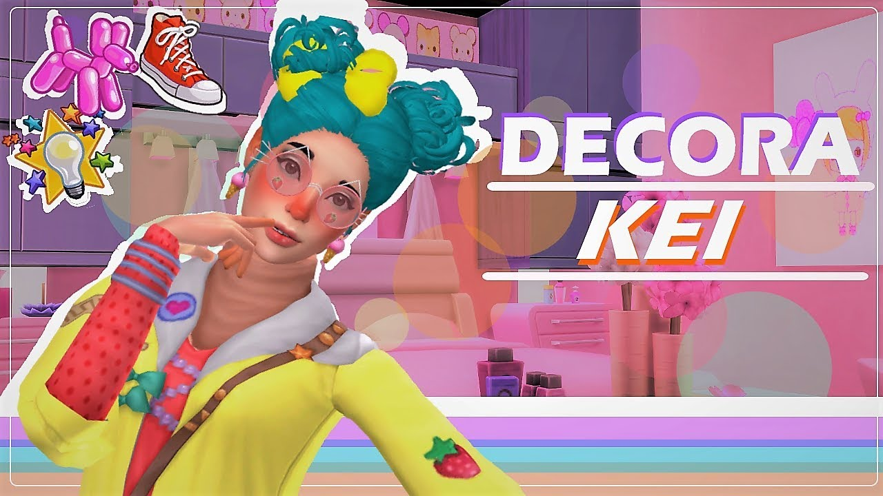Sims 4 30 day cas challenge✧ day 9 decora kei •ㅅ•❀