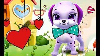 маленький милый щенок Молли - чем кормить щенка, уход за малышом, мультик игра для детей, #31