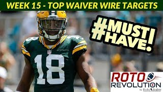2018 Fantasy Football Advice - Week 15 Waiver Wire Players To Target