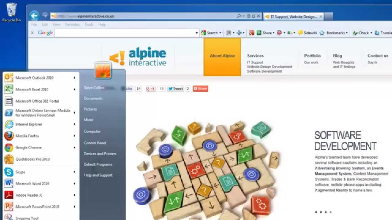 SharePoint Online Windows 7/IE 10 Know Office 365 Issue