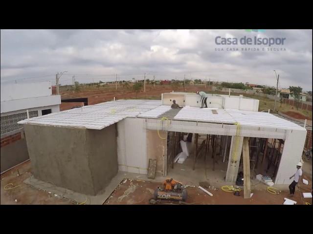 Casa entregue em 37 Dias c/ 180m² - Casa de Isopor
