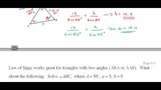 234 TrigH 8 2 Law of Sines