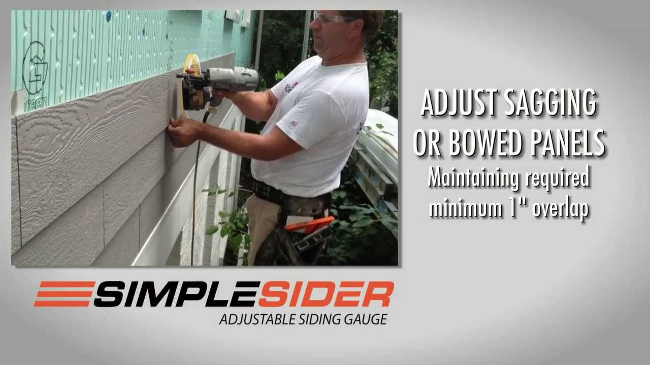 Simplesider Siding Gauge Youtube
