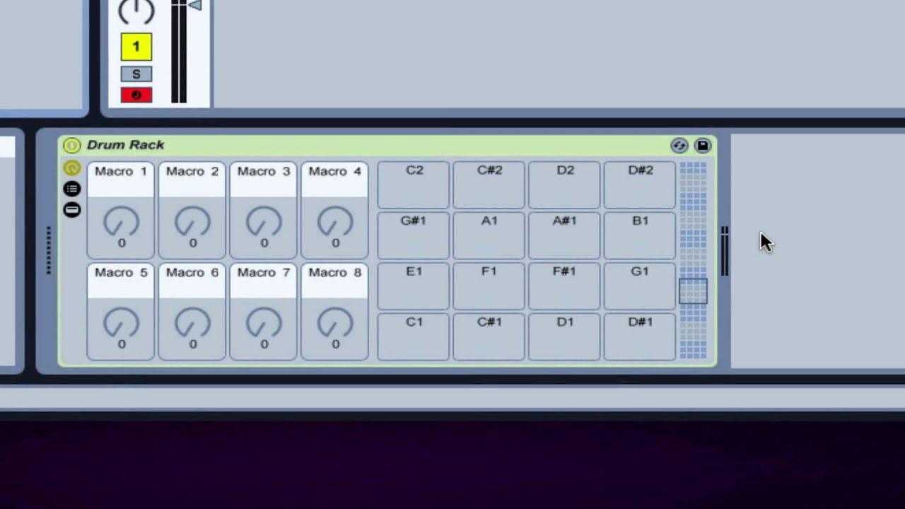 Ableton Tutorial Drum Rack Basics Youtube