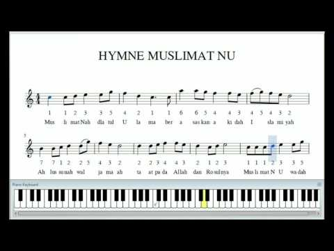 Hymne Muslimat NU Notasi Musik