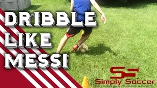 Amazing soccer dribbling drill for increased foot speed