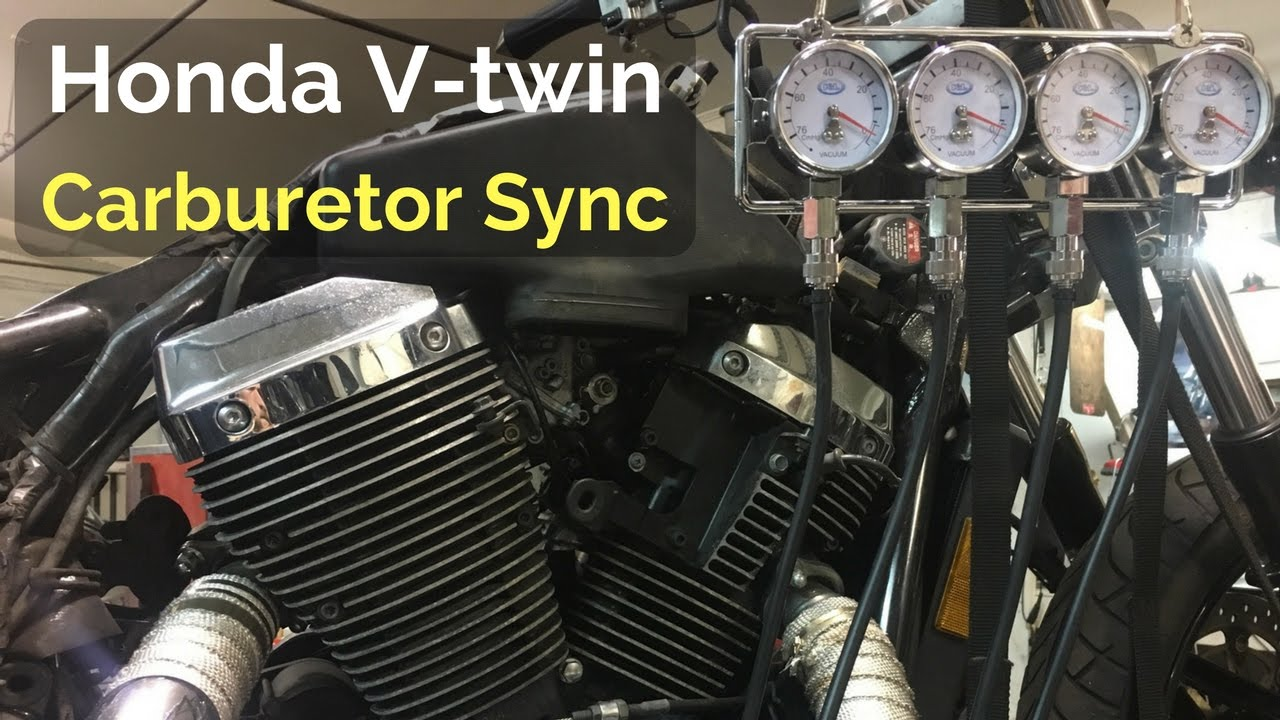 Carburetor Sync Honda V Twin Youtube Motorcycle Diagram
