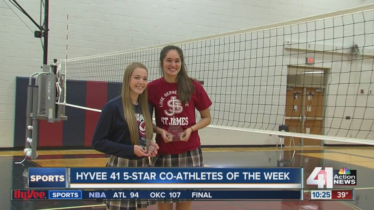 St. James Academy's Audriana Fitzmorris, Jenna Gray are Hy-Vee 41 Five-Star co-Athletes of the