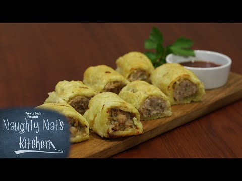 Chicken & Feta Sausage Rolls (Gluten-Free) - Naughty Nat's Kitchen
