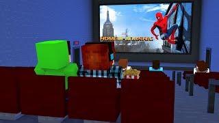 Minecraft Filme: FILME DO HOMEM ARANHA DENTRO DO MINECRAFT !!