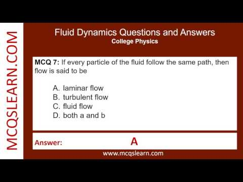 questions and answers on fluid mechanics Pratice fluid mechanics questions and answers for interviews, campus placements, online tests, aptitude tests, quizzes and competitive exams.
