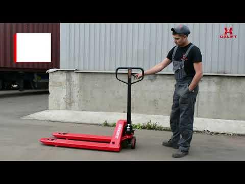 Как пользоваться гидравлической тележкой (рохлей)