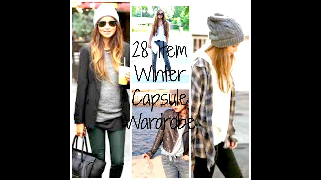 Minimalism 28 item Winter Capsule Wardrobe