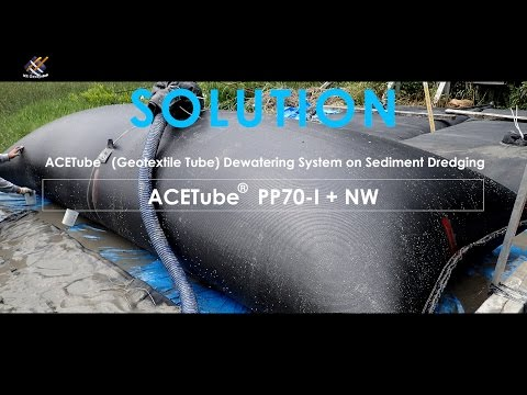 ACETube® (Geotextile Tube) Dewatering System on Sediment Dredging