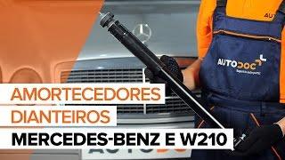 Como substituir a amortecedores dianteiros noMERCEDES-BENZ E W210 [TUTORIAL]
