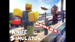 THROWING KNIFES ALL DAY!! (Roblox Messer Simulator)