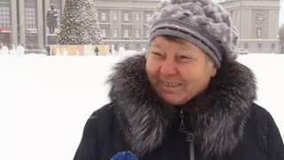 На площади Куйбышева создают ледяной городок